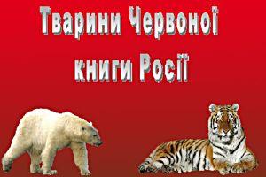 Тварини Червоної книги Росії