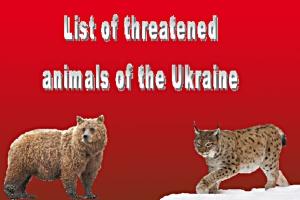 List of threatened animals of the Ukraine